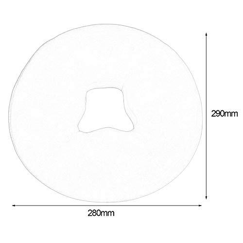Blanco Reposacabezas desechable de tela no tejida desechable//fundas de almohada de 100 piezas de silicona de grado m/édico absorbente Cubiertas de cara de cama de belleza