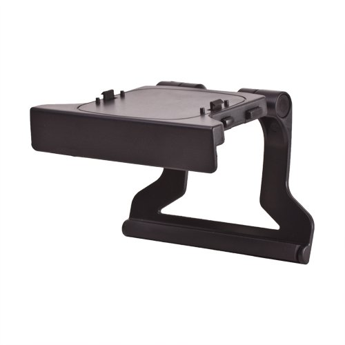 TNP Xbox 360 TV Mount Clip Mounting Stand Holder Cradle Dock Bracket (Black) for Microsoft Xbox 360 Kinect Sensor Camera [Xbox 360] (360 Camera Xbox Gaming)