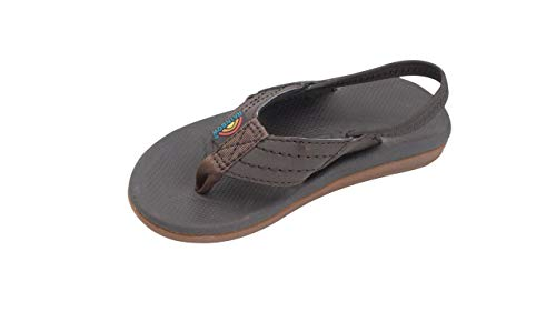 Rainbow Sandals Kid's Cape Molded Rubber Sandal, Dark Brown, Kid's 4-5 B(M) US ()