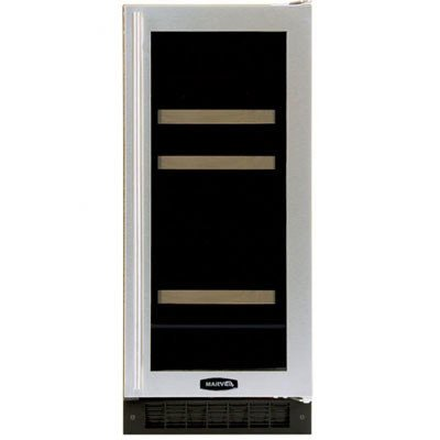 Refrigerator Overlay - 4 Bottle Dual Zone Wine Refrigerator Finish: Black Cabinet With Overlay Frame Glass Door, Hinge Location: Left
