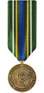 Medals of America Korean Defense Service Medal Miniature Bronze
