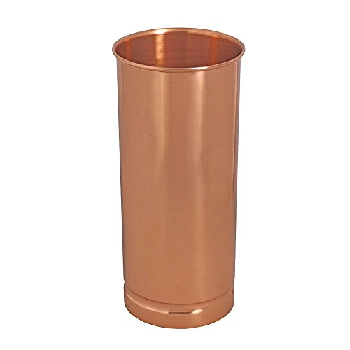 ShalinIndia Handmade Indian Ethnic Home Decor Copper Flower Vase Decorative 10 Inches 2000 ML