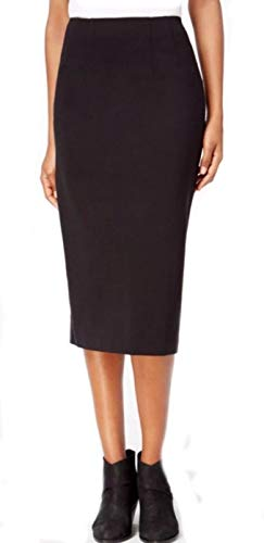 Eileen Fisher Tencel Strch Ponte Black Skirt PP PS PM PL (PL)