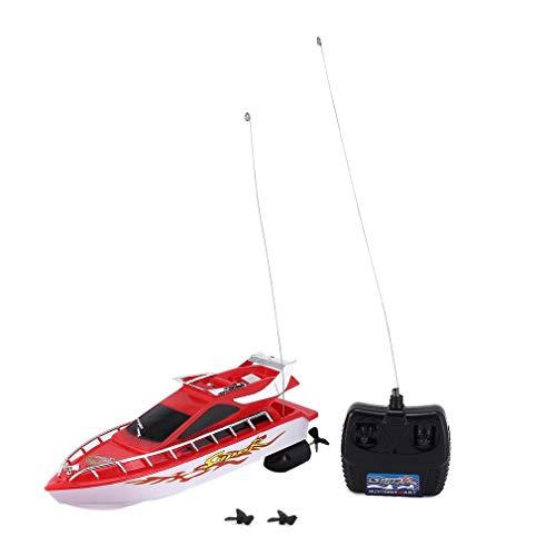 C101AミニラジコンリモコンRC高速レーシングボート子供のためのボートスピード児童ギフトプレゼント玩具シミュレーションモデル(赤白)の商品画像