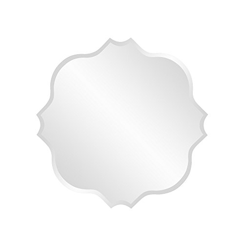 Howard Elliott 36012 Frameless Mirror, Scalloped Edges, Small Square, 16-Inch (Collection Square Wall)