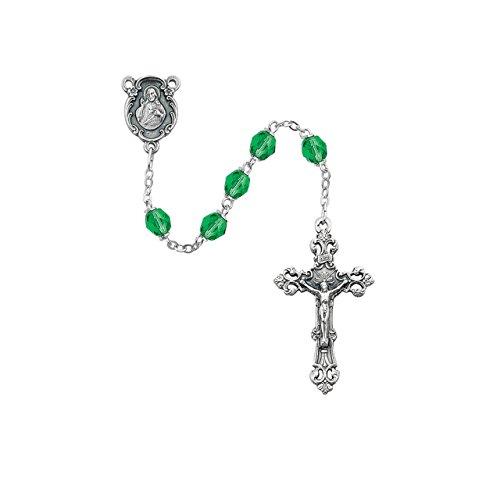 Peridot Rosary w/ Sacred Heart of Jesus