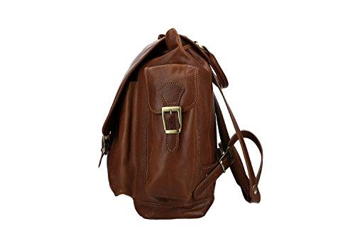 à brun ITALY homme MADE cuir Sac femme ancien IN épaule dos en VN2450 dx0v6