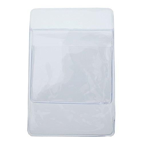 Heavyweight Clear Vinyl Pocket Protector w/ Horizontal ID Badge Holder PPL635 (Vinyl Pocket Protector)
