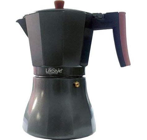 Lifestyle CAFETERA Aluminio Fondo Uso INDUCCION 9 Tazas: Amazon.es ...
