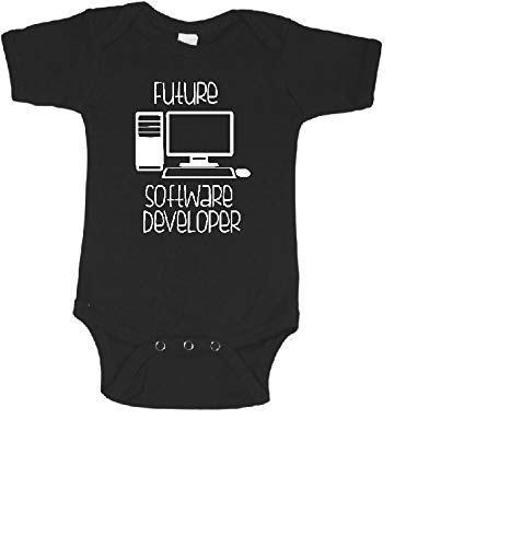 Future software developer funny baby bodysuit programmer infant one - Software Future