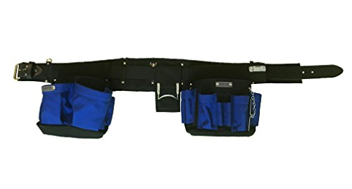 Boulder Bag Electrician Belt Comfort Combo w/Metal Buckle - Blue/Black - Large ()