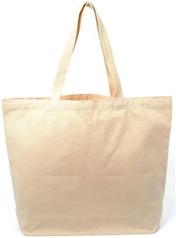 Heavy Cotton Gussetted Grocery Tote Bag