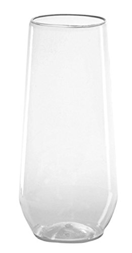 10 Ounce Flute Glass (WNA RESSFL1084 Reserve Stemless Flute Glass, 10 oz., Clear (Pack of 32))