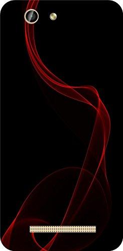 shengshou pattern design mobile back cover for gionee f103 pro   red black   Black