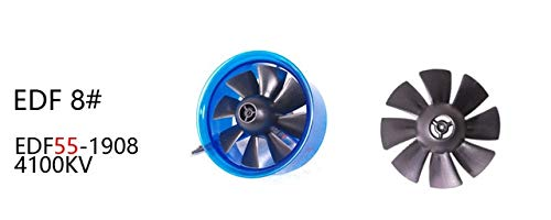 - Kamas Product AEORC 55mm 64mm 6 Blades Ducted Fan System EDF for Jet Plane with Brushless Motor RC Plane EDF RC - (Color: NO.8)