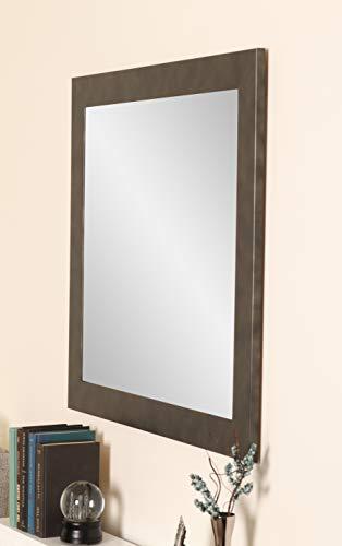 BrandtWorks BM025L2 Clouded Gunmetal Wall Vanity Mirror, 32