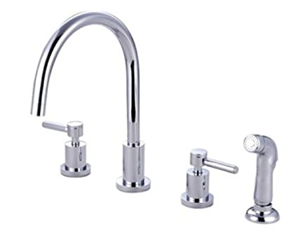Kingston Brass Ks8721dl Concord Widespread Kitchen Faucet With