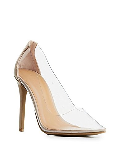 3d619cba950 Image Unavailable. Image not available for. Color  Anne Michelle Worship-36M  Clear Pump 37.5 EU  7 US Nude