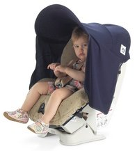 Protect-a-Bub Single Car Seat UPF 50 Sunshade- Navy