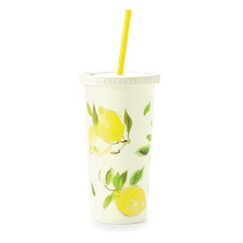 Kate Spade New York Insulated Tumbler, Lemon, , Bright Yellow Lemon Gift