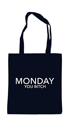 Monday You Bitch Bag Black