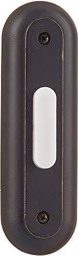 (Craftmade BSRT-AZ Designer Surface Mount Racetrack Lighted Doorbell LED Push Button, Antique Bronze (4.38