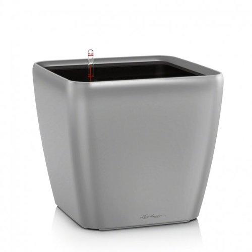 Lechuza QUADRO LS 50 Premium Komplettset - SILBER Metallic