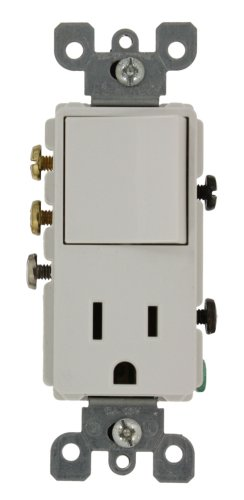 - Leviton 5645-W 15 Amp, 120 Volt, Decora 3-Way/AC Combination Switch, Commercial Grade, Grounding, White
