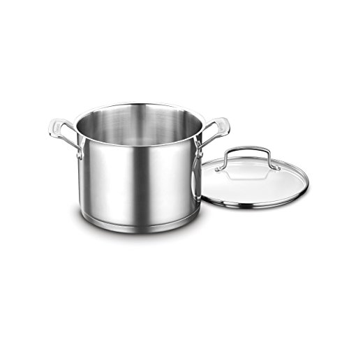 Quart Stock Pot Cover - Cuisinart 8966-22 6-Quart. Stockpot w/Cover, Stainless Steel