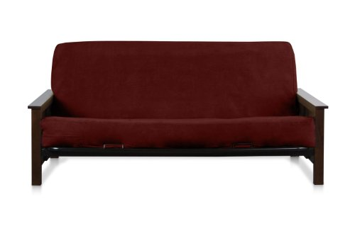 OctoRose ® Wine (Reddish) Full Size Quality Bonded Micro Suede Futon Mattress Cover Micro Suede Futon Cover Fabric