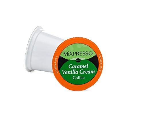 Mixpresso Coffee Roasters Caramel Vanilla Cream K Cups - Single Serve K-Cup Pods For All Keurig Machines