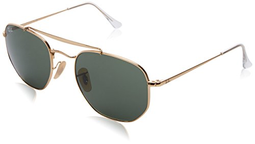 Ray-Ban Metal Unisex Square Sunglasses, Gold, 54 - Ray Sunglasses Icon Ban