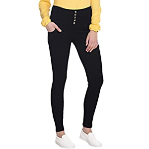 Broadstar Women Denim Black Jeans
