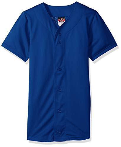 Alleson Athletic Teen-Boys Youth Baseball Jersey, Royal, Small by Alleson Athletic
