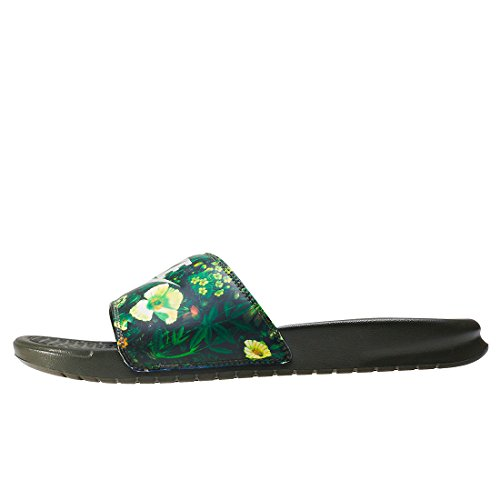 Nike Dames Benassi Jdi Print Slide Cargo Kaki / Light Bone