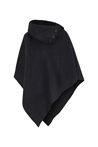 AO Damen Poncho mit Stehkragen Gr. S - XL schwarz