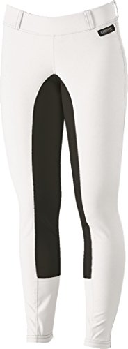 Kerrits Sit Tight Suede Fullseat Breeches White X-Large
