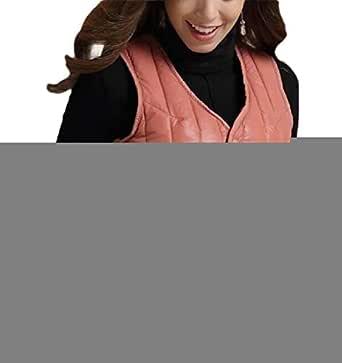 Women Winter Warm Thicken V Neck Lightweight Gilet Quilted Zip Vest 1 XS