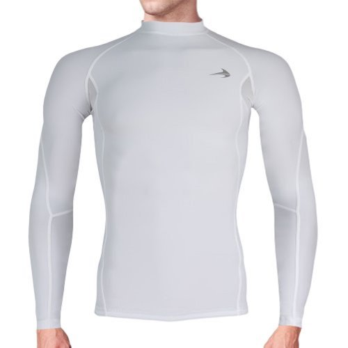 "CompressionZ Long Sleeve Thermal Top Compression T Shirt, Medium 37.5""-41"" - White"