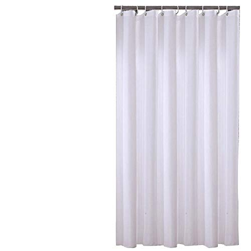 Sfoothome 72 Inch Wide x 75 Inch Long Hotel Fabric Shower Curtain Waterproof Bath Curtains Heavy Weight, Pure White