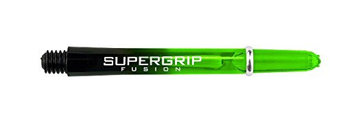 PerfectDarts 5 x Sets Harrows Nylon Dart Stems Supergrip Fusion Black Green Midi