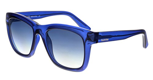 Valentino V725S 419 Transparent Blue Square - 2017 Valentino Sunglasses