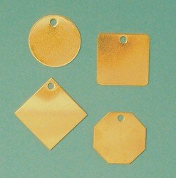 Accuform TDB120 Brass Blank Identification Tag, OCTAGON, 18 Gauge, 1-1/4'' L x 1-1/4'' W  (Pack of 100)