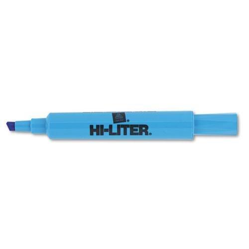 Avery 24016 HI-LITER Desk-Style Highlighter, Chisel Tip, Fluorescent Blue Ink, Dozen Avery Blue Fluorescent Highlighter