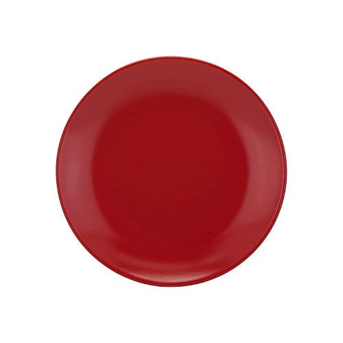 10 Strawberry Street Wazee Matte - 7.75'' Coupe Salad Plate - Set of 6 - Red by 10 Strawberry Street