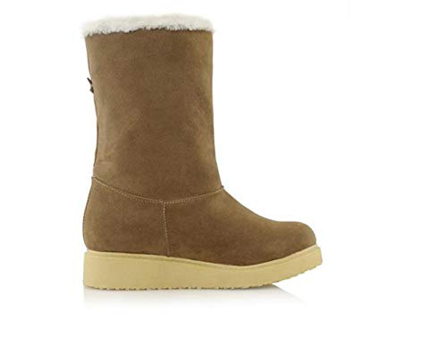 a donna Palline Women Scarpe Hot Boots cotone For centrale in Camel tubo da Zh Snow qI7XwyA