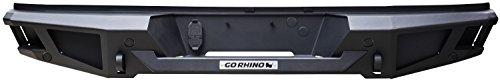 - Go Rhino 28219T Textured Black Powder Coat Finish Rear Replacement Bumper (BR20)