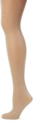 Pretty Polly Women's Sheer Lurex Tights Nude Pantyhose (Polly Sheer Pretty)