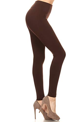Fleece Leggings (Plus Size (Size 12-24), FLX-Brown)