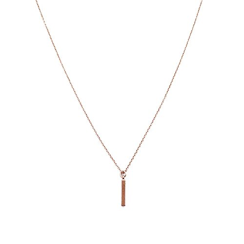 HONEYCAT Mini Drop Bar Necklace in18k Rose Gold Plate | Minimalist, Delicate Jewelry (Bar Drop Necklace)